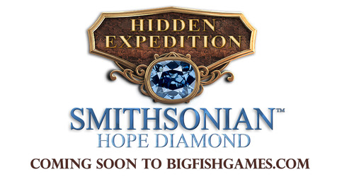 "Big Fish, the world's largest publisher of casual games, announces ""Hidden Expedition: Smithsonian Hope Diamond"" video game. Big Fish is partnering with the Smithsonian to create a PC and Mac Hidden Object Adventure game based on the Smithsonian's iconic and mysterious Hope Diamond! Working in conjunction with the National Museum of Natural History, the Big Fish team has incorporated Hope Diamond facts into the game, along with actual places and other objects from the Smithsonian. ""Hidden Expedition: Smithsonian Hope Diamond"" will be available December 2013!. (PRNewsFoto/Big Fish) (PRNewsFoto/BIG FISH)"