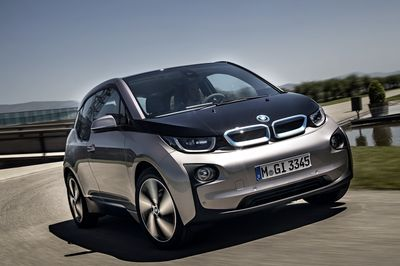 World premiere of the BMW i3, the first pure electric series-produced model of the BMW Group, in New York, London and Beijing on 29th July 2013. Copyright: BMW AG