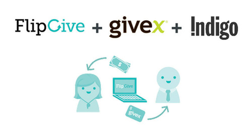 Givex Partners with Indigo and FlipGive to Support Local Fundraising Campaigns. (PRNewsFoto/Givex) (PRNewsFoto/GIVEX)
