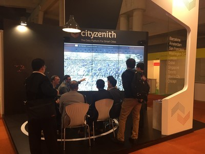 Figure 1  Cityzenith at the Smart City Expo World Congress, Barcelona  Nov 17-19, 2015