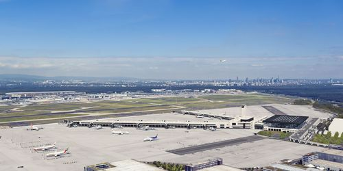 Need for Future Terminal 3 at Frankfurt Airport Confirmed by Independent Institutes. Computer-generated aerial view of Terminal 3 at the southern side of FRA. (PRNewsFoto/FRAPORT AG)