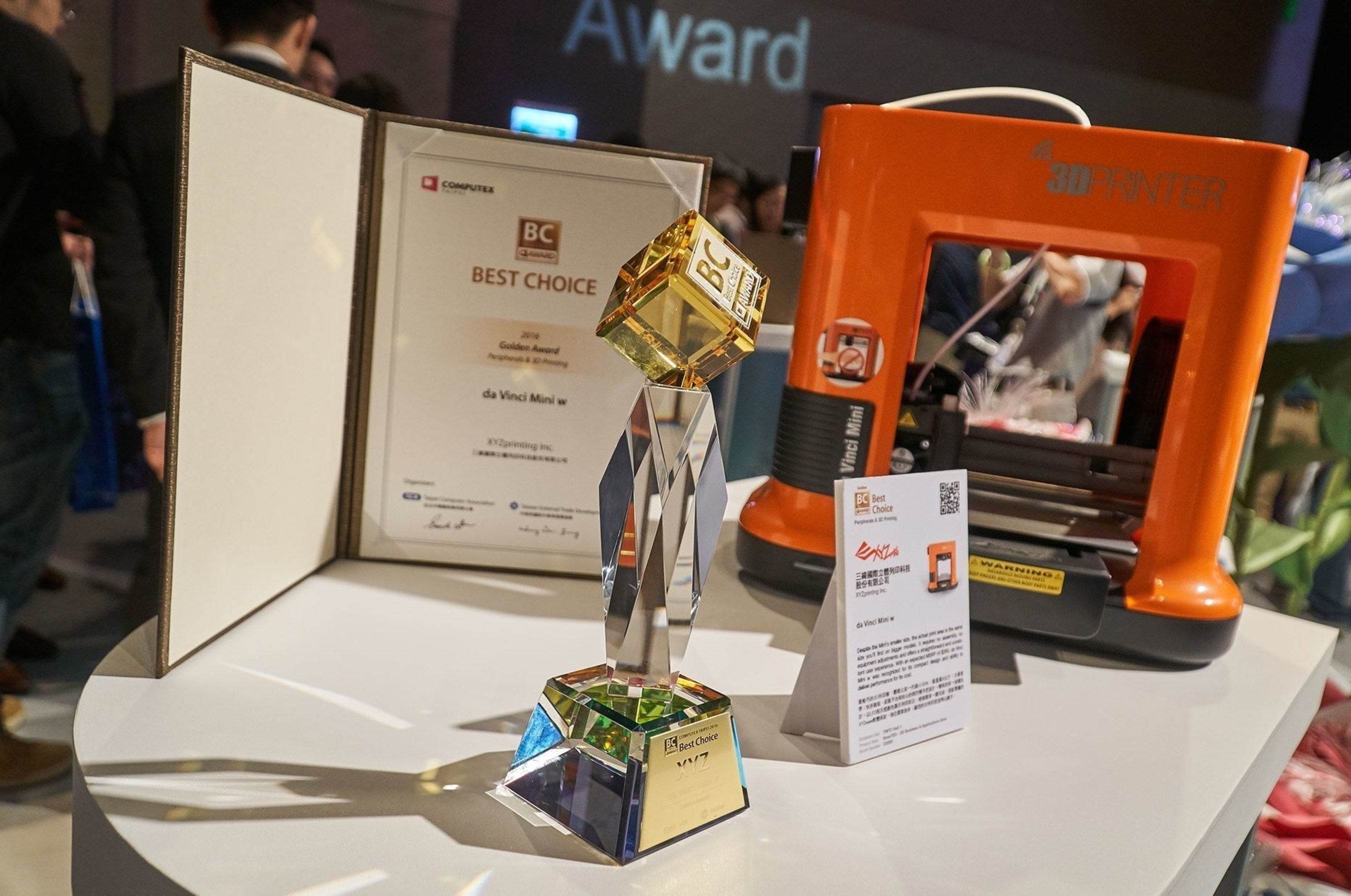 XYZprinting Announces Newly Expanded 3D Printing Product Suite on the Heels of Winning Best Choice Golden Award at COMPUTEX Taipei