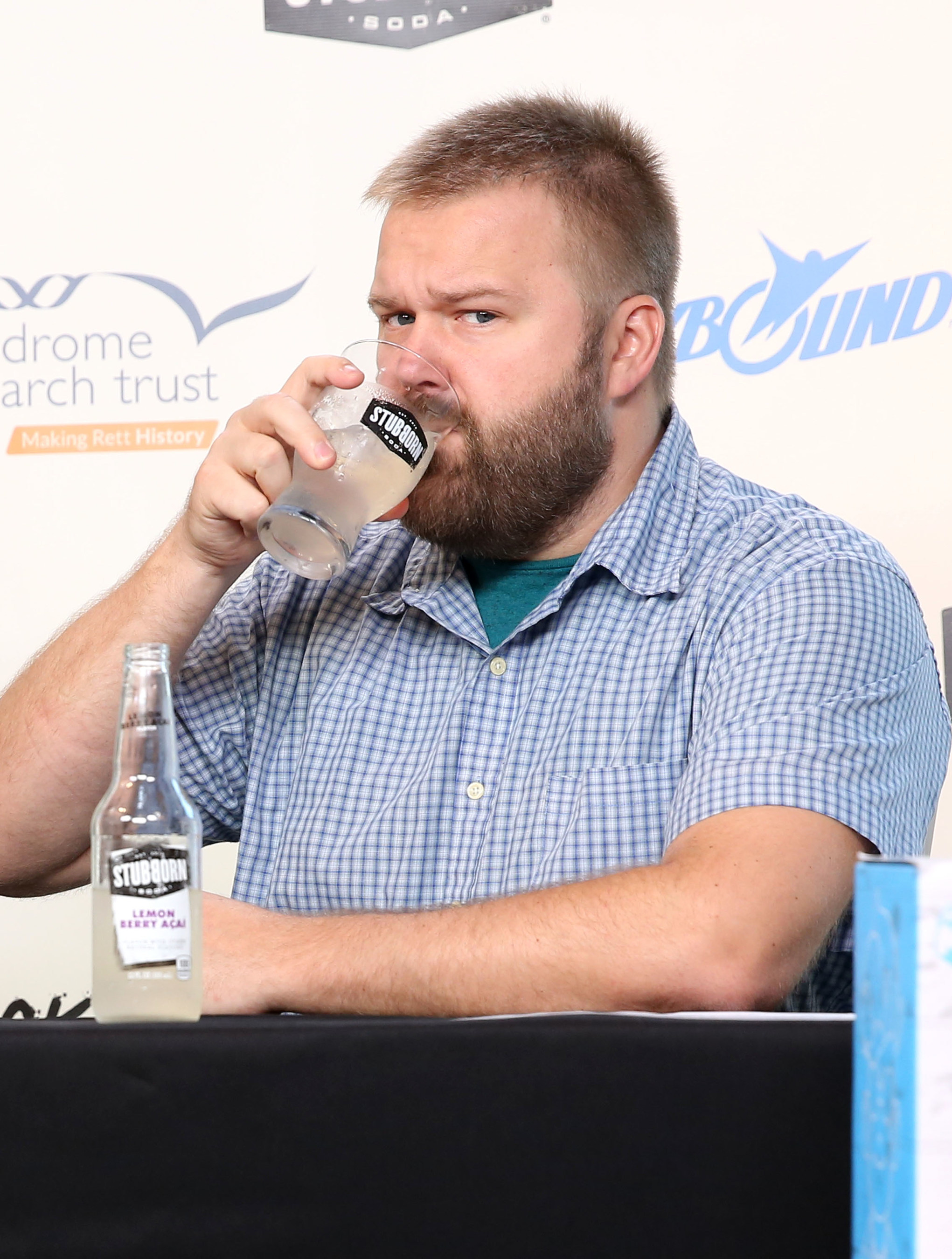 Robert Kirkman with Stubborn Soda