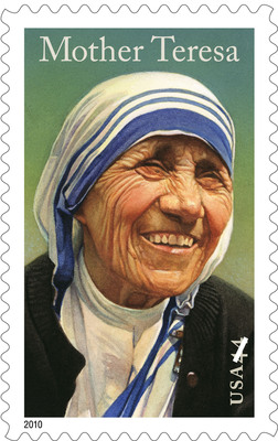 Postal Service honored Mother Teresa for her humanitarian work for the poor.  (PRNewsFoto/U.S. Postal Service)