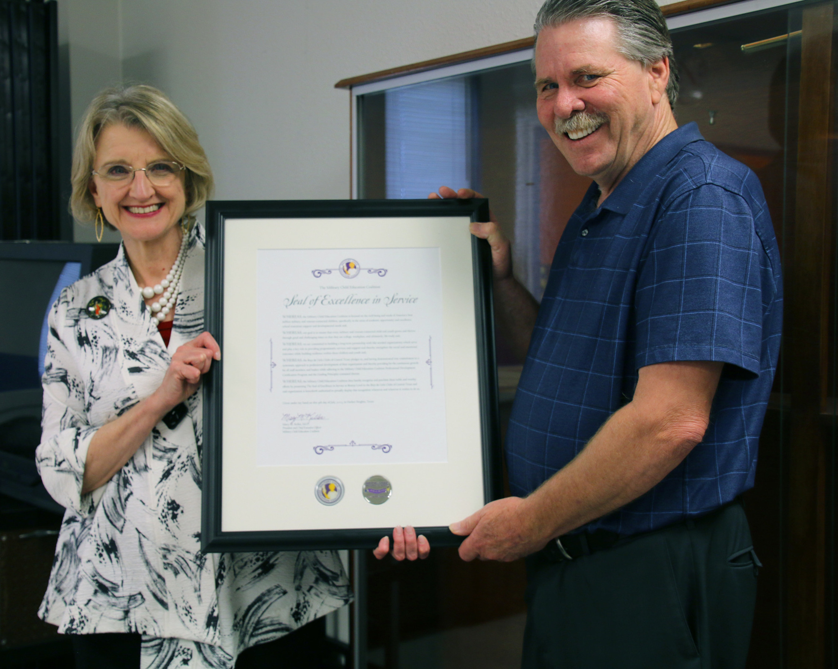 Military Child Education Coalition presents award to the Boys and Girls Club of Central Texas