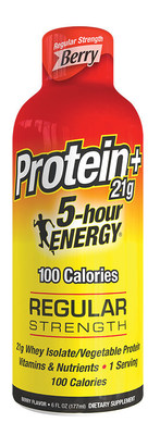 Each 5-hour ENERGY Protein shot has 21 grams of protein and other ingredients to help you feel energized.