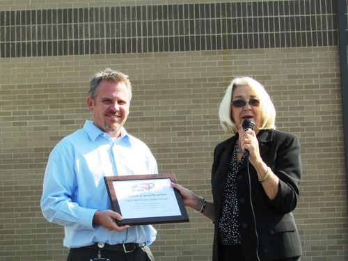 Newton Receives Safety Milestone Award