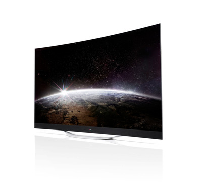 LG Electronics will unveil their comprehensive OLED TV lineup at next week's 2014 International CES.  (PRNewsFoto/LG Electronics USA, Inc.)