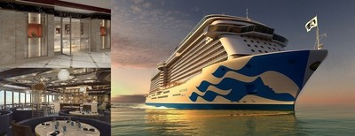 Princess Cruises unveils design and key features for newest ship, Majestic Princess (pictured from top to bottom, The Shops of Princess and  Le Bistrot Restaurant)