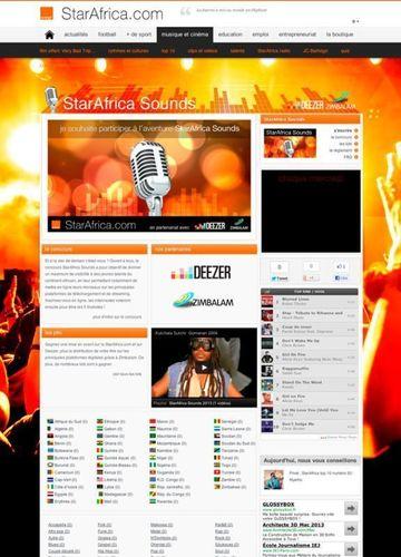 StarAfrica Sounds website (PRNewsFoto/StarAfrica)