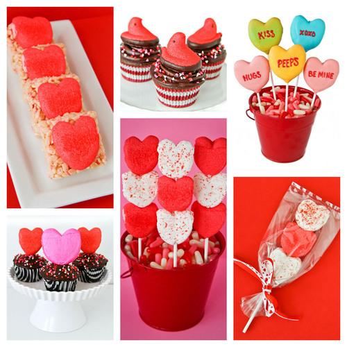 Express Your PEEPSonality(TM) with PEEPS(R) Valentine's Day Crafts & Recipes. (PRNewsFoto/PEEPS) (PRNewsFoto/PEEPS)