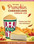 Rita's Italian Ice Introduces NEW Pumpkin Cheesecake Cream Ice.  (PRNewsFoto/Rita's Italian Ice)