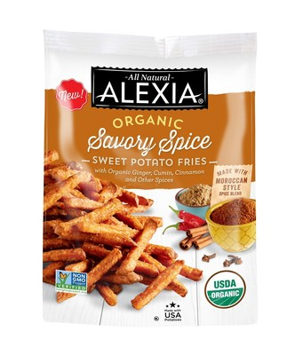 Organic Savory Spice Sweet Potato Fries - With a delicious blend of organic ginger, cumin, cinnamon and other spices, the Organic Savory Spice Sweet Potato Fries bring the tantalizing flavors of Morocco from farm to table - and are Non-GMO verified and Certified USDA Organic. The organic sweet potatoes are grown at a small family farm in North Carolina.