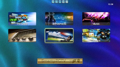 Smarty PCTV - Main Menu. (PRNewsFoto/Smarty PCTV) (PRNewsFoto/SMARTY PCTV)