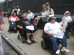 United Spinal Members protesting UBER'S lack of wheelchair accessible cars.