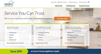 New SearsHomeServices.com provides the average cost, time needed to complete a repair and DIY quick fixes for homeowners.