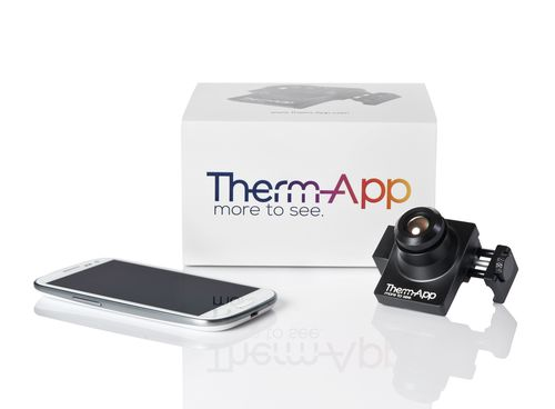 Therm-App(TM) mobile thermal imaging device offers high resolution night and bad-weather vision capabilities (PRNewsFoto/Opgal Optronic Industries Ltd_)