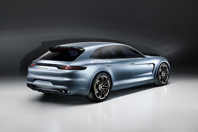 Porsche is presenting the Panamera Sport Turismo concept car to show how amazingly intelligent and efficient drive technology might look in the design language of tomorrow. The Sport Turismo unites the next generation hybrid drive with new ideas for an evolutionary, sporty body concept; it combines Porsche performance with comprehensive everyday practicality.  (PRNewsFoto/Porsche AG)