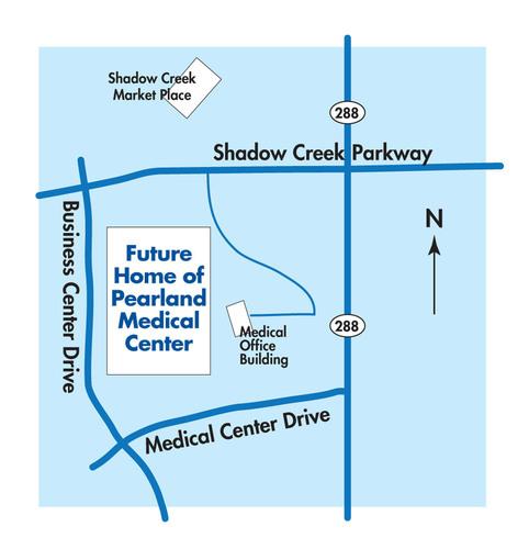 Pearland Medical Center Location.  (PRNewsFoto/HCA Gulf Coast Division)