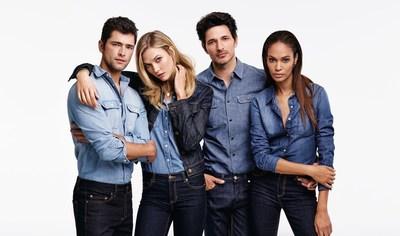 Joe Fresh Fall 2015 campaign featuring models Sean O'Pry, Karlie Kloss, Andres Velencoso and Joan Smalls (Johan Sandberg/ Courtesy Joe Fresh)