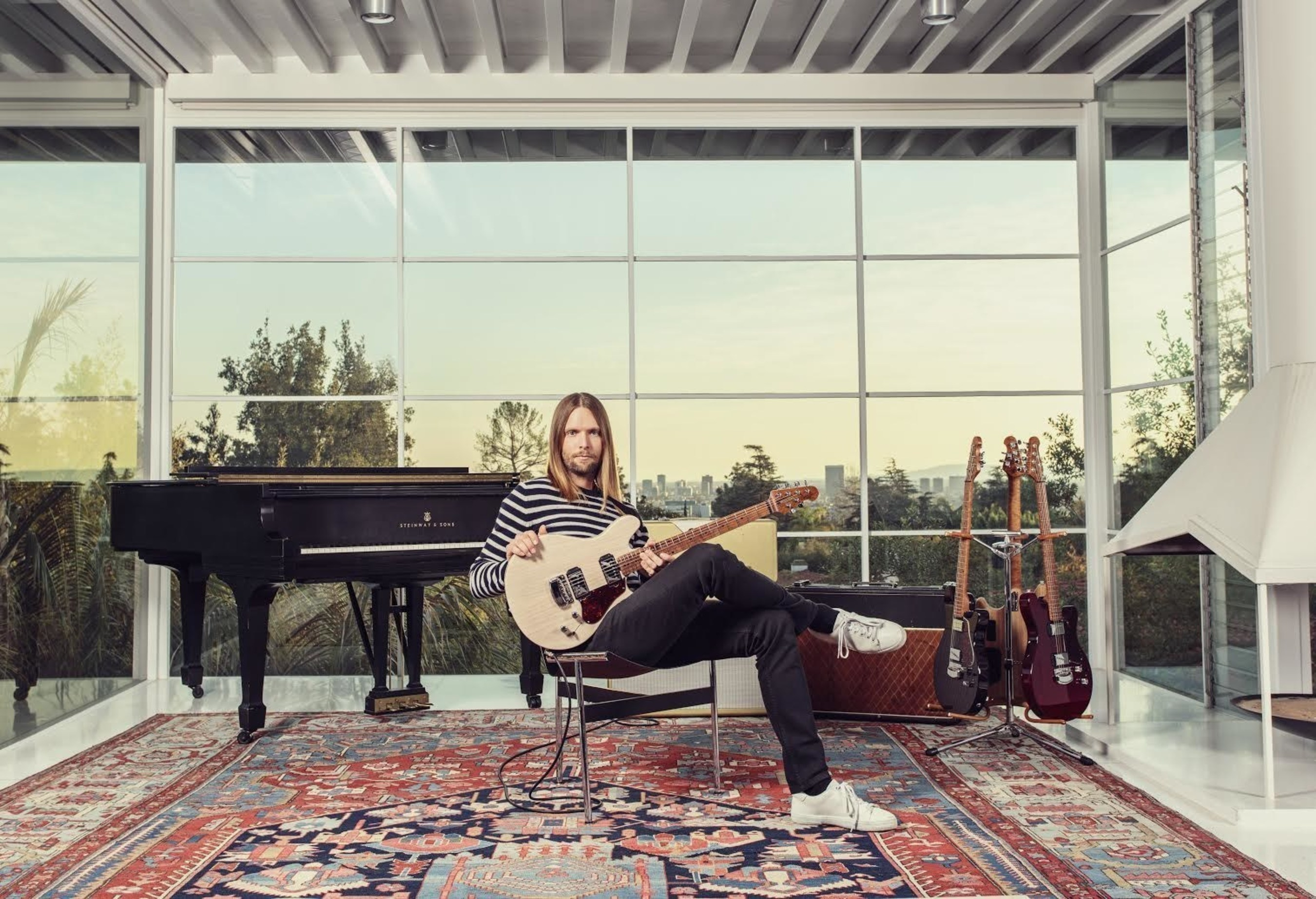 Ernie Ball Music Man Announces 'The Valentine': New Guitar Designed In Collaboration with Maroon 5's James Valentine