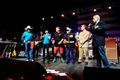 Anthony Imperato, President of Henry Repeating Arms presented Henry Golden Boy Military Service Tribute Rifles to War Heroes at the Charlie Daniels Volunteer Jam in Nashville.