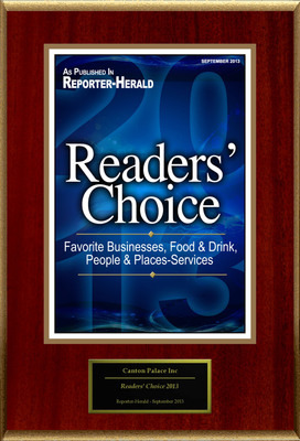 "Canton Palace Inc Selected For ""Readers' Choice 2013"". (PRNewsFoto/Canton Palace Inc) (PRNewsFoto/CANTON PALACE INC)"