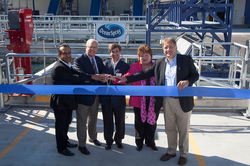Ocean Spray® Opens High-Tech Cranberry Receiving Station in Richmond, BC