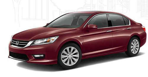 The 2014 Honda Accord Hybrid will be arriving to Howdy Honda very soon. It is poised to pass the Toyota Camry in terms of fuel-economy thanks to a completely new type of transmission and other fuel-saving technologies.  (PRNewsFoto/Howdy Honda)