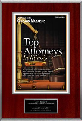 "Carl Salvato Selected For ""Top Attorneys In Illinois"".  (PRNewsFoto/American Registry)"