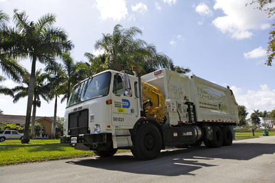 Parker RunWise System on Refuse Vehicles used by Miami-Dade County.  (PRNewsFoto/Parker Hannifin Corporation)