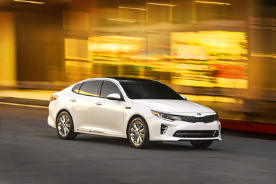 All-new 2016 Optima midsize sedan makes global debut #KiaOptima #NYIAS.