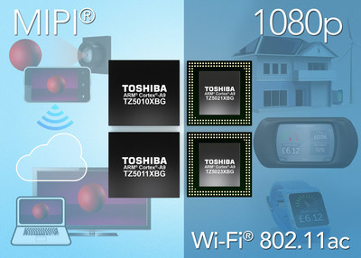 Toshiba has added four new products to its TZ5000 series of ApP Lite(TM) processors targeting the Internet of Things (IoT). The new processors are based on the ARM(R) Cortex(R)-A9 dual-core CPU, and deliver power management, memory and security features necessary for IoT applications.