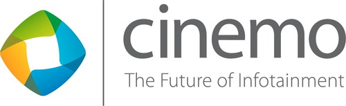 The Future of Infotainment by Cinemo at CES 2016 Brand new use cases combining feature rich multimedia, media management and connectivity empower the next generation of in-car entertainment. Logo Cinemo GmbH (PRNewsFoto/Cinemo GmbH) (PRNewsFoto/Cinemo GmbH)