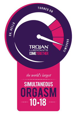 Trojan(TM) Lubricants Invites Couples to Come Together for the World's Largest Simultaneous Orgasm.  (PRNewsFoto/TROJAN(TM) Lubricants)