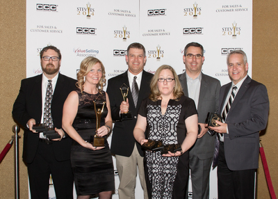 """VIZIO won a total of nineteen Stevie Awards; 1 gold, 3 silver, and 14 bronze and a Grand Stevie Award in the eighth annual Stevie Awards for Sales & Customer Service. In addition to being ranked """"Highest in Customer Satisfaction with HDTVs Less Than 50 Inches (Tied)"""" by J.D. Power and an A Better Business Bureau rating, VIZIO added to their customer service accolades with their 31st Stevie Award, one of the highest honors for exceeding customer service expectations. (PRNewsFoto/VIZIO, Inc.) (PRNewsFoto/VIZIO, INC.)"""
