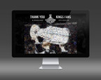 The LA Kings used the #WeAreAllKings Photo Mosaic visualization to celebrate their Stanley Cup win. (PRNewsFoto/TigerLogic Corporation)