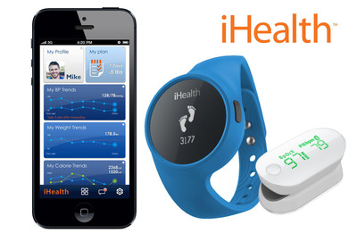 iHealth released two fitness devices to add to their suite of personal mobile health products: the Wireless Activity & Sleep Tracker and the Wireless Pulse Oximeter.  (PRNewsFoto/iHealth Lab Inc.)
