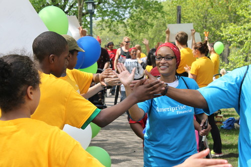 Thousands join together at the 27th annual Minnesota AIDS Walk, May 18, 2014 in Minnehaha Park in Minneapolis. ...