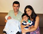 Parents Maher and Tonya Chehab and big brother Kareem enjoy baby Zane.
