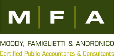 MFA - Moody, Famiglietti & Andronico, LLP is a proactive CPA and consulting firm located north of Boston with national and global reach. Since 1981, clients have relied on MFA's exceptional tax, audit and consulting services, but have stayed with us year after year because of our value as a proactive and trusted business advisor. (PRNewsFoto/MFA - Moody, Famiglietti & Andr)