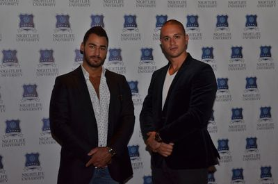 Founders, Alex Gustafson (left) and Marko Goodman (right) at the Nightlife University launch celebration