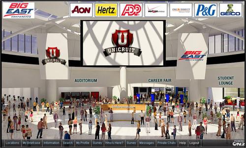 Unicruit Brings Students & Employers Together at Virtual Career Fair.  (PRNewsFoto/UBM Studios)