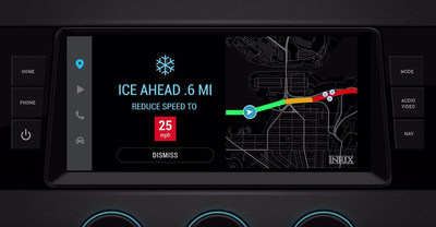 INRIX Road Weather provides critical information on road conditions, including type of precipitation, surface conditions and visibility, among others. It is the first system to use real-time data from connected vehicles to alert other drivers of potentially dangerous situations.