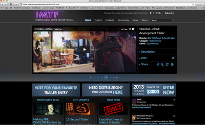 IMTF's Online Festival. (PRNewsFoto/International Movie Trailer Festival) (PRNewsFoto/INTERNATIONAL MOVIE TRAILER FEST)