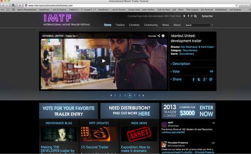 IMTF's Online Festival.  (PRNewsFoto/International Movie Trailer Festival)