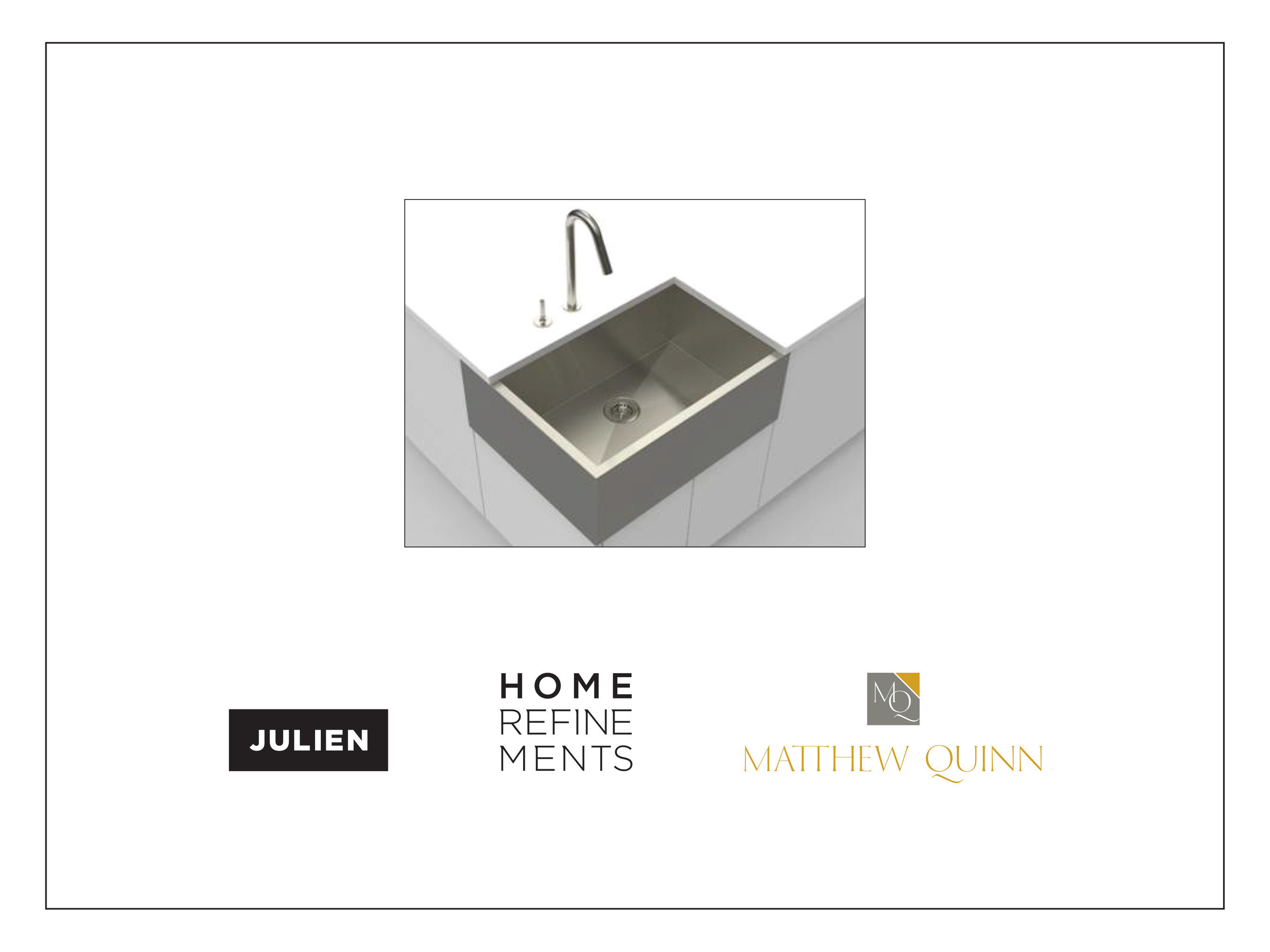 The first sink ever to allow more than one person to work and socialize during meal preparation and entertaining.