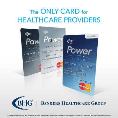Bankers Healthcare Group presents the BHG Power MasterCard(R), the only credit card designed for and exclusively available to healthcare professionals.