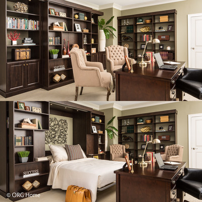 ORG Home Murphy Beds let you transition from home office, library, or open  space ...