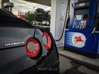 Flex fuel vehicle fueling up at Potomac Mills Mobil.
